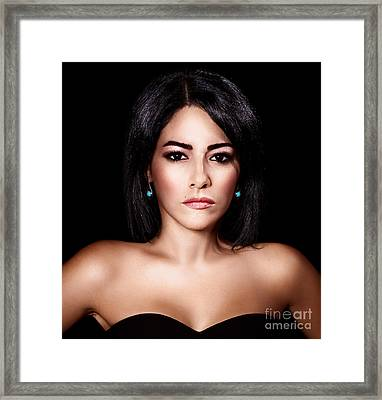 Gorgeous Woman Portrait Framed Print