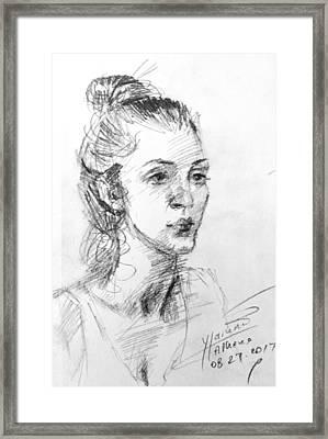 Georgia Framed Print by Ylli Haruni