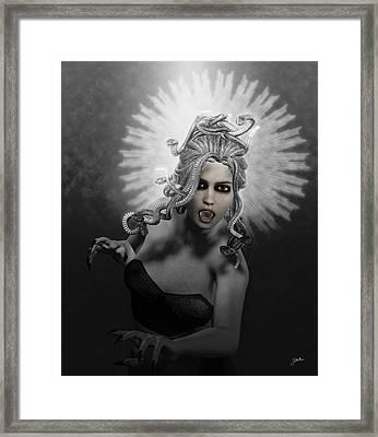 Gorgon Framed Print by Joaquin Abella