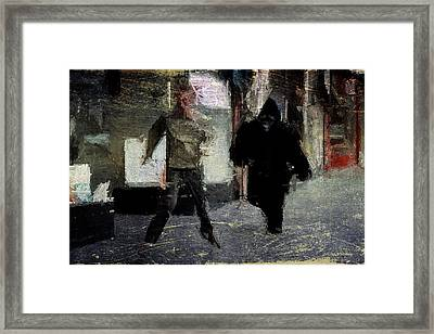 Gorilla Chase Framed Print by Andrea Barbieri