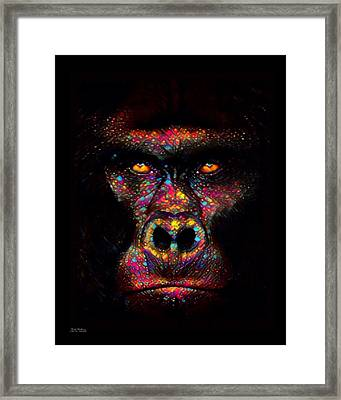 Gorilla Color Splash  Framed Print
