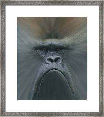 Gorilla Freehand Abstract Framed Print by Ernie Echols
