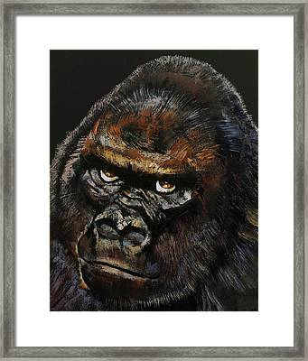 Gorilla Framed Print by Michael Creese