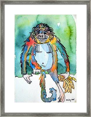 Gorilla Of My Dreams Framed Print by Mindy Newman