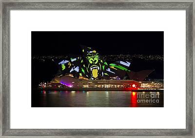 Gorilla Sails - Sydney Opera House - Vivid Festival Framed Print by Bryan Freeman