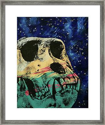 Gorilla Skull Framed Print by Michael Creese