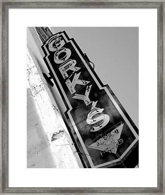 Gorky's Cafe Framed Print by Jeff Lowe