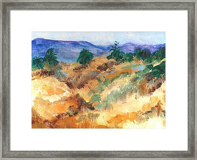 Gorman Pass 105 Degrees Framed Print by Randy Sprout