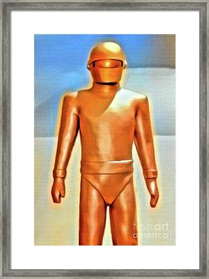 Gort From The Day The Earth Stood Still. Digital Art By Mb Framed Print