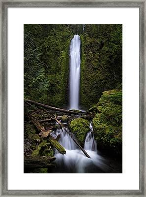 Gorton Creek Falls Framed Print by Brian Bonham