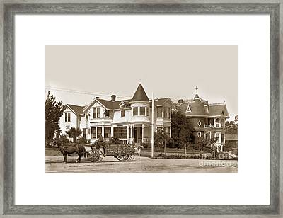 Gosby And Hart Homes On Lighthouse Ave. Framed Print by California Views Mr Pat Hathaway Archives