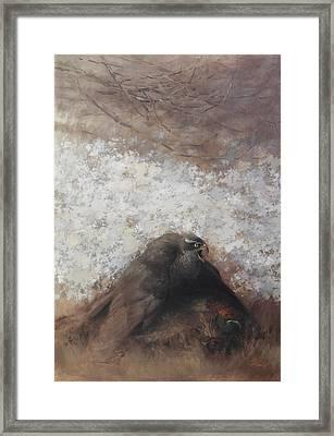 Goshawk And Pheasant Framed Print