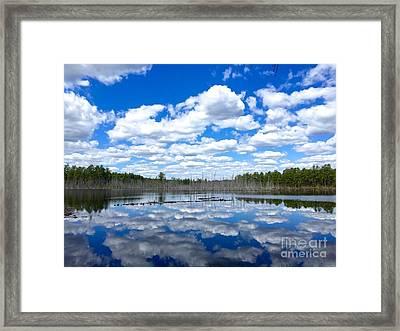 Goshen Mirror  Framed Print by Kristie Marz