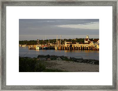 Gosman's Dock At Dawn Framed Print