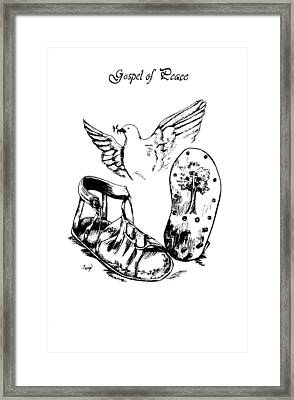 Gospel Of Peace Framed Print by Maryn Crawford