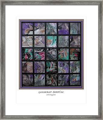 Gossamer Sunrise Framed Print by Lori Kingston