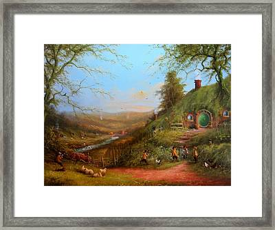 Gossip At The Gate Framed Print