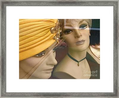 Gossip Girls Framed Print by Trish Hale