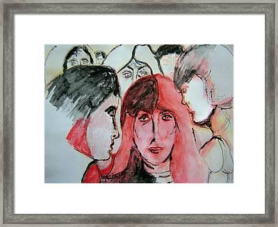 Gossip Framed Print by Judith Redman