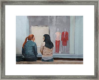 Framed Print featuring the painting Gossip by Rachel Hames