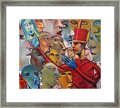 Gossips Framed Print by Jonathan Franklin