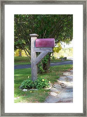 Framed Print featuring the digital art Got Mail by Barbara S Nickerson