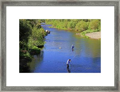Framed Print featuring the photograph Got One  by Donna Kennedy