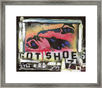 Got Shoes Framed Print by Robert Wolverton Jr