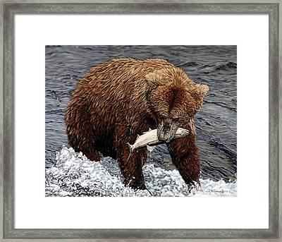 Gotcha Framed Print by Linda Becker