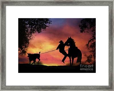 Gotcha Framed Print by Stephanie Laird