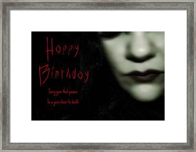 Goth Birthday Card Framed Print by Lisa Knechtel