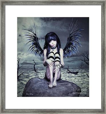 Goth Fairy Framed Print