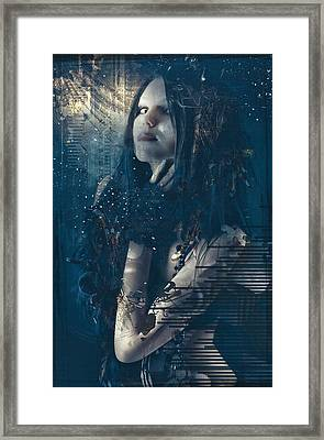 Goth Girl Framed Print by Rosemary Smith