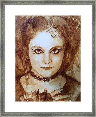 Goth Lady Framed Print by Chrissey Dittus