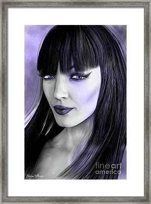 Goth Portrait Purple Framed Print by Alicia Hollinger