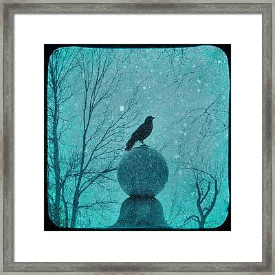 Goth Snow Globe Framed Print by Gothicolors Donna Snyder