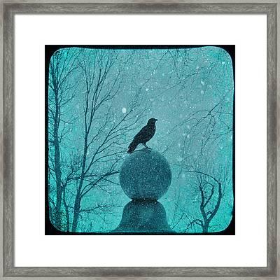 Goth Snow Globe Framed Print