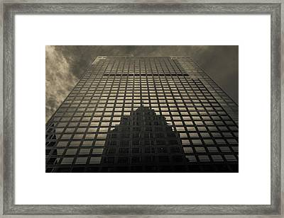 Framed Print featuring the photograph Gotham City by Lora Lee Chapman
