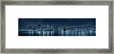 Gotham City Skyline Framed Print