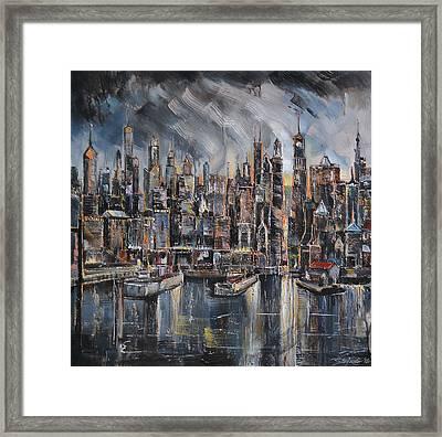 Gotham City Framed Print by Stefano Popovski