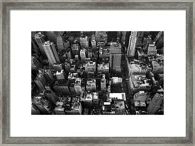 Gotham From Above Framed Print by William  Todd