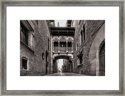Gothic Barcelona Framed Print