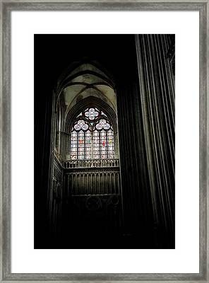 Gothic Cathedral Framed Print by Chris Brewington Photography LLC
