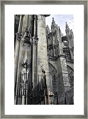 Gothic Cathedral In Cologne Framed Print