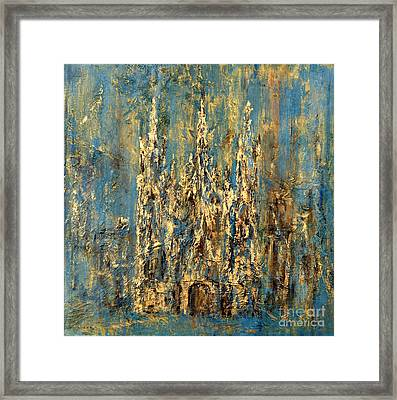 Framed Print featuring the painting Gothic Church  by Arturas Slapsys