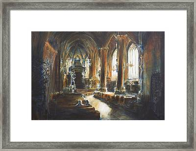 Gothic Church Framed Print by Nik Helbig