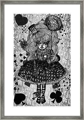 Gothic Cute Girl Framed Print by Akiko Okabe