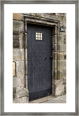 Gothic Doorway Framed Print by Andy Smy