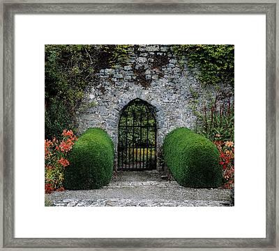 Gothic Entrance Gate, Walled Garden Framed Print