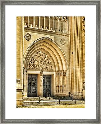 Gothic Entry Framed Print by Kathi Isserman